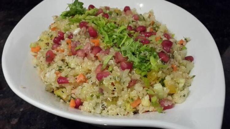 Kolay kinoalı salata tarifi