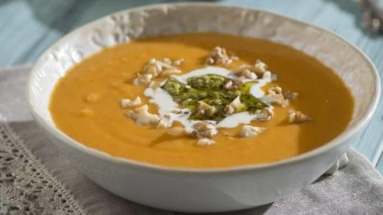Cevizli balkabağı çorbası tarifi