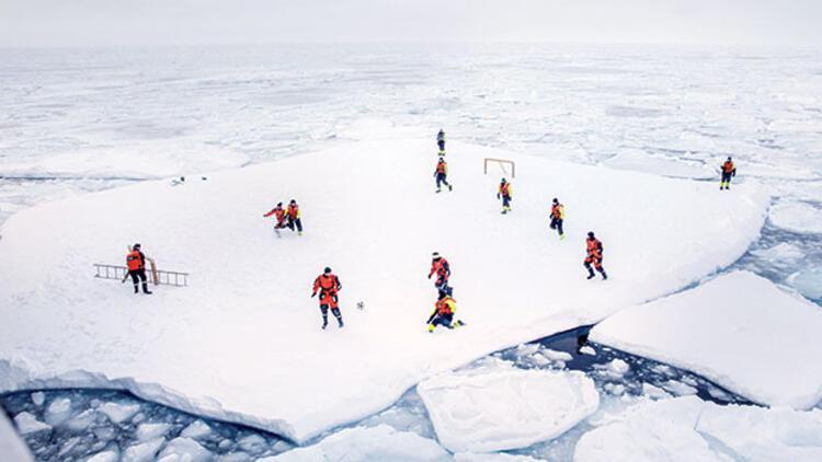 'Buzdagında' çift kale maç