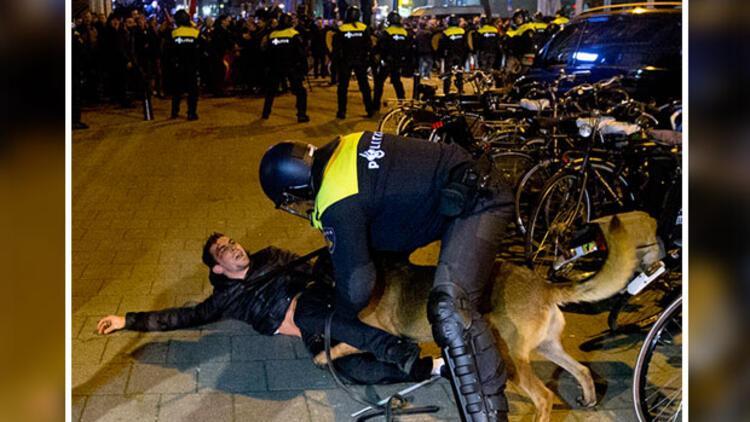 Protestoya katılan Türkler hakkında hapis cezası istendi