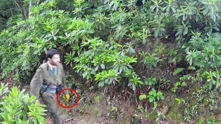 Fotokapana yakalanan teröristin sarı eldiveninin sırrı çözüldü