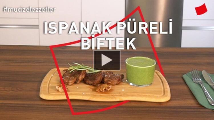 Ispanak Püreli Biftek