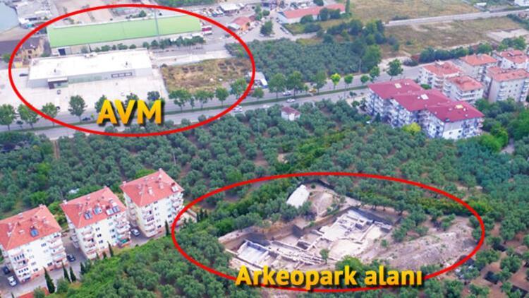 Bir tarafı AVM bir tarafı arkeopark