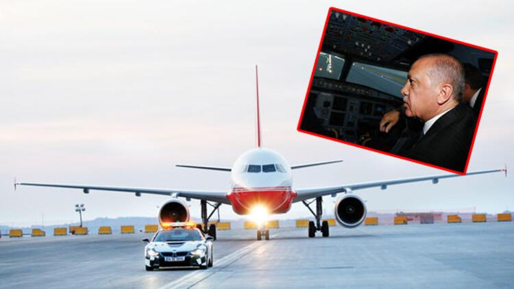Üçüncü havalimanına ilk iniş Erdoğan'dan
