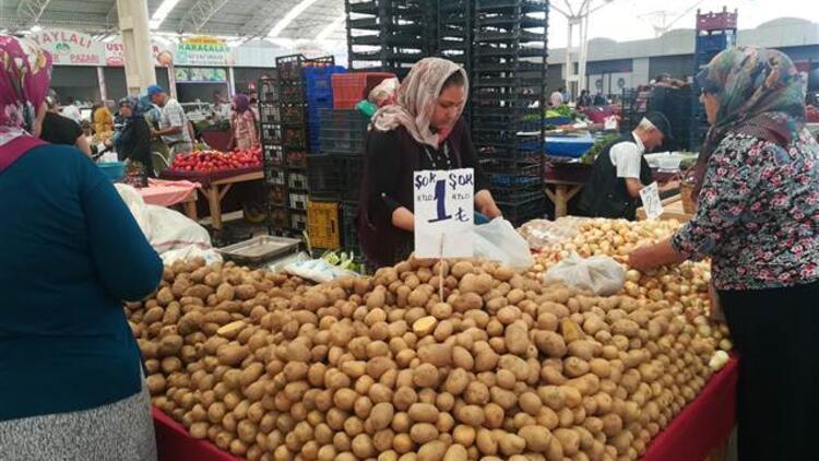 Patateste üreticide 50 kuruş geriledi
