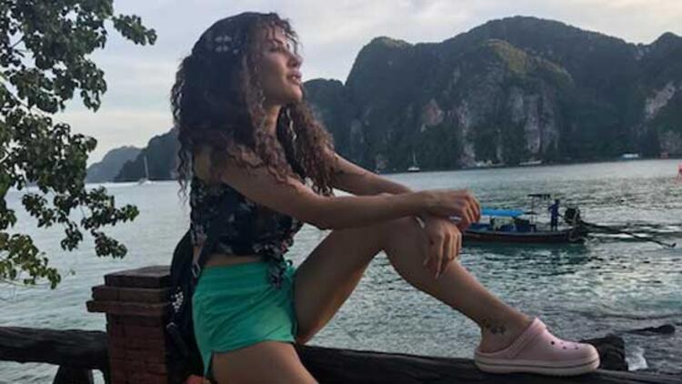Dizisi tatile girince soluğu Phuket'te aldı