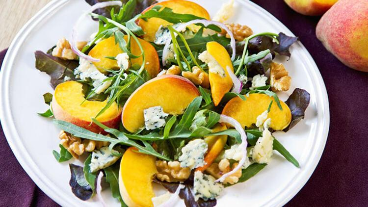Şeftalili roka salatası tarifi