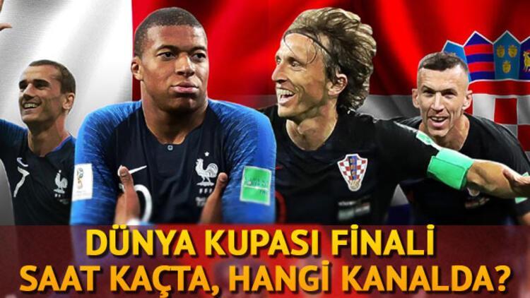 Dünya Kupası finali ne zaman saat kaçta? Fransa Hırvatistan maçı için heyecan dorukta!