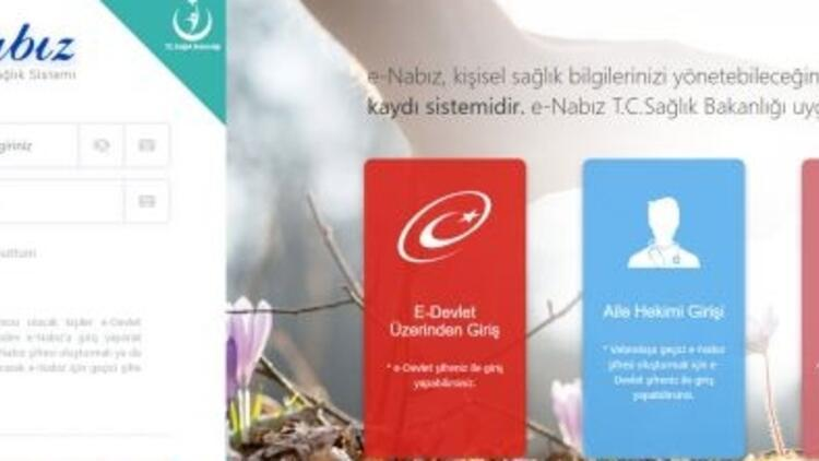 E Nabız sistemi nedir E Devlet E-Nabız giriş ekranı