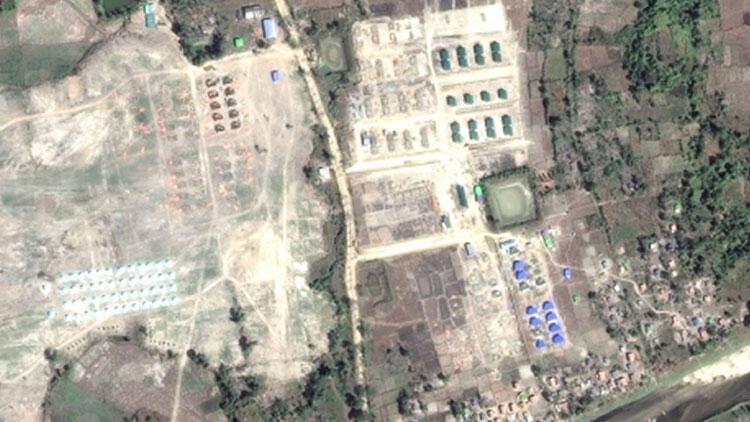 Myanmar soykırımı uzaydan tespit edildi