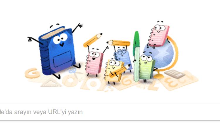 Google okulun ilk gününe özel doodle tasarladı... Okullar ne zaman kapanacak?