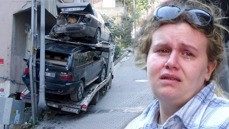 Kaza yapan çekicinin sürücüsünün gözyaşları