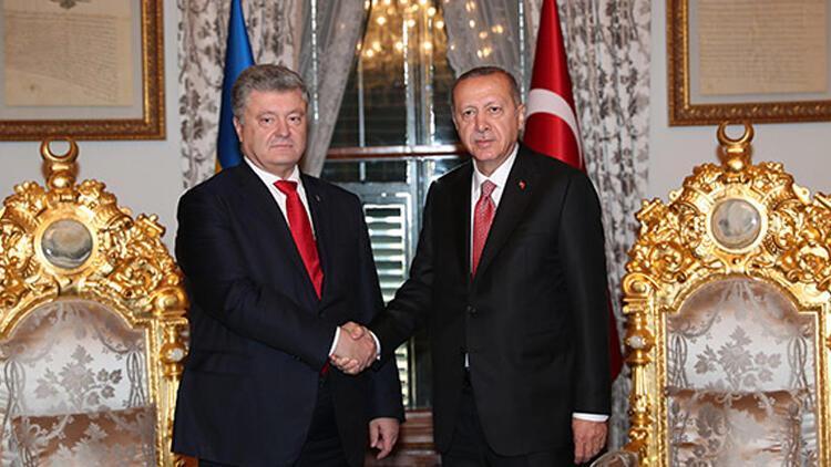 Erdoğan ile Poroşenko görüştü