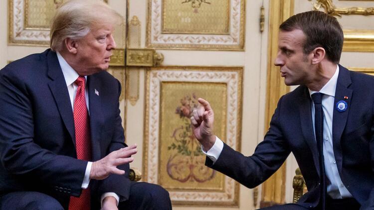 Macron-Trump zirvesi gergin başladı - Son Dakika Güncel Haberler
