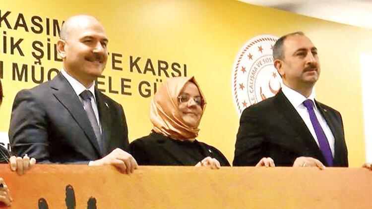 3 bakandan 'Kadına şiddete hayır' mesajı