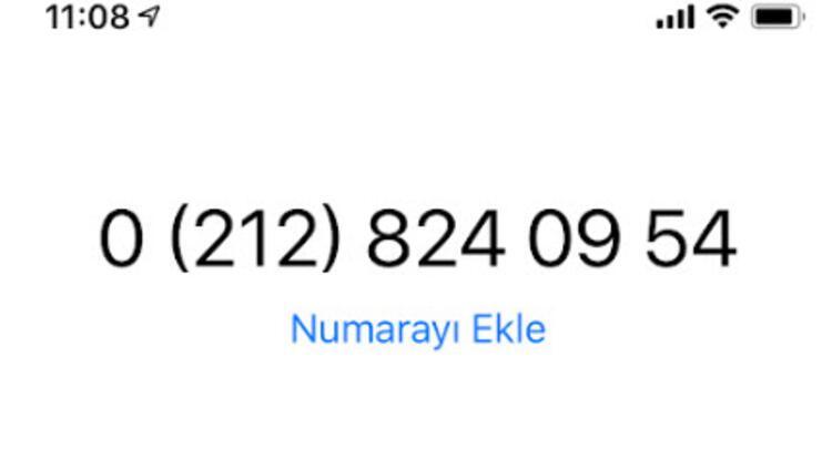 02128240954 nolu hattan arama alıyorsanız dikkat