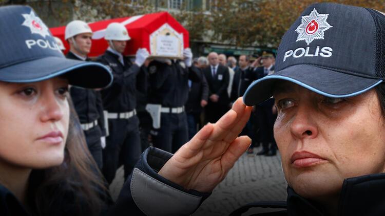 Genç polis gözyaşları içinde uğurlandı