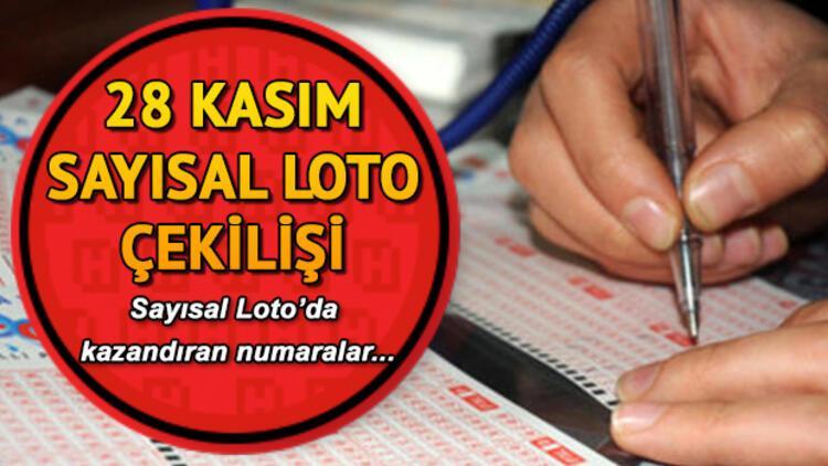Sayısal Loto sonuçları açıklandı... 28 Kasım Sayısal Loto çekilişi Milli Piyango sorgulama ekranı