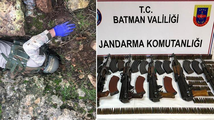 Batmanda kayalıklar arasında ele geçirildi