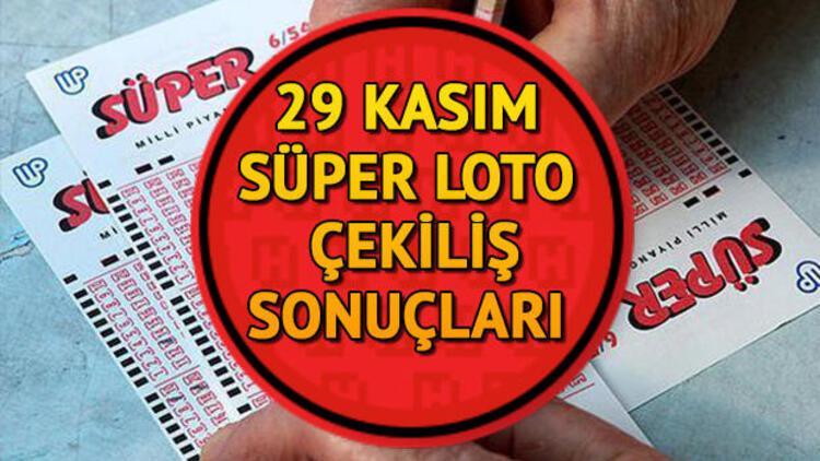 Süper Loto sonuçları açıklandı... 29 Kasım Süper Loto Milli Piyango sonuçları sorgulama