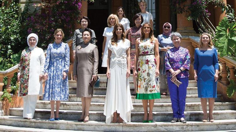 Emine Erdoğan, lider eşleriyle bir araya geldi