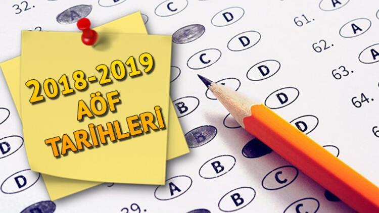 AÖF güz dönemi final sınavı ne zaman? AÖF sınav tarihleri