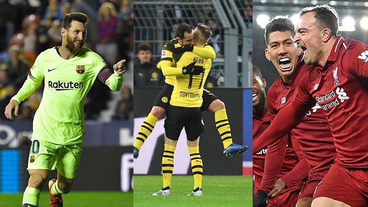 Dortmund ve Liverpool hata yapmadı, haftaya Messi damga vurdu!