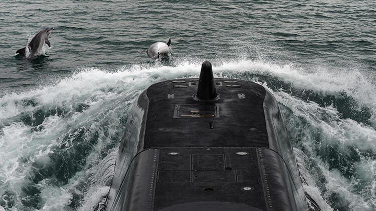 """Türk Donanmasının gururu """"TCG Sakarya"""" görüntülendi"""