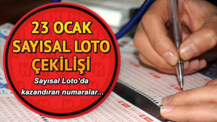 Sayısal Loto sonuçları açıklandı... 23 Ocak Sayısal Loto sonuçları sorgulama sayfası