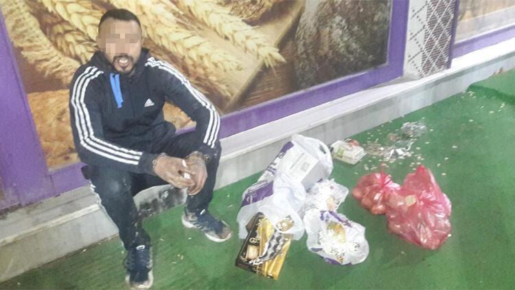 Pasta çaldı, iş yerinin önünde oturup dinlenirken yakalandı
