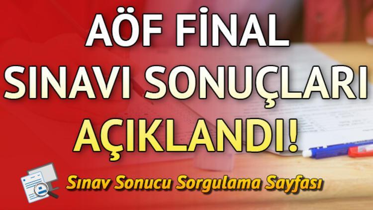 AÖF sınav sonuçları Anadolu Üniversitesi tarafından erişime açıldı! AÖF güz dönemi final sınavı sonuçları