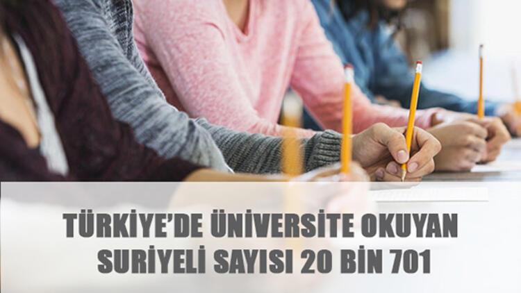 Türkiye'de üniversite okuyan Suriyeli sayısı 20 bin 701