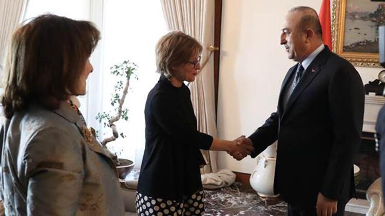 Bakan Çavuşoğlu, BM raportörü Callamard ile görüştü