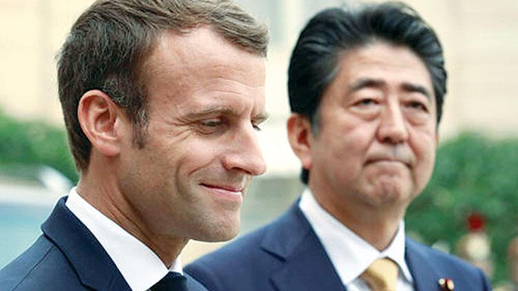 Macron'dan Abe'ye 'Ghosn' sitemi