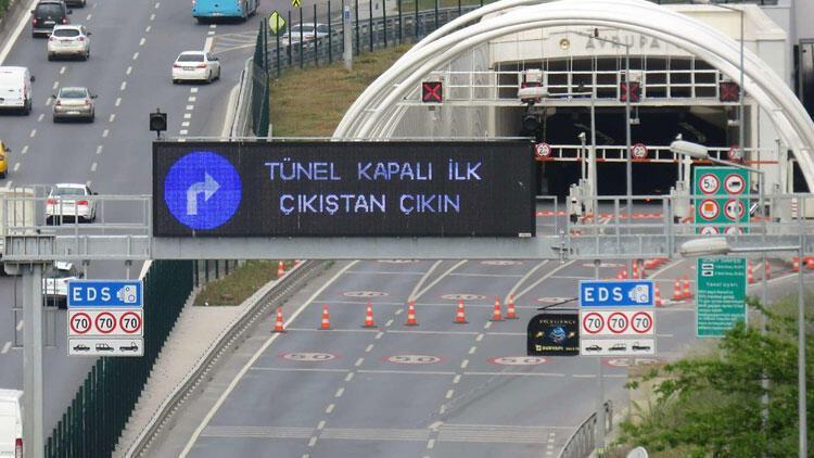 Dikkat! Avrasya Tüneli 5 saat kapalı kalacak