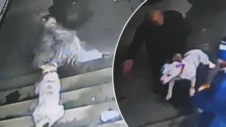 İstanbul'da ilginç olay! Sahibiyle lokantada yemek yiyen keçiye köpek saldırdı