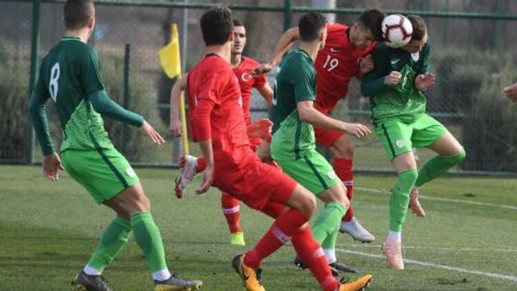 U19 Milli Futbol Takımı, Slovenya'ya kaybetti!