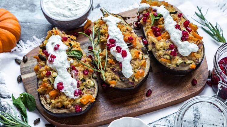 Patlıcan Yatağında Bulgurlu Sebze
