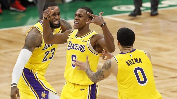 Lakers, Rondo ile son saniyede Boston'ı yıktı!