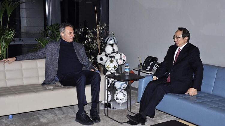 Fikret Orman'a Japonya'nın İstanbul Başkonsolosu Hisao Nishimaki'den ziyaret