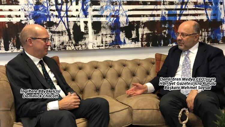 İngiltere Büyükelçisi'nden Demirören Medya'ya ziyaret