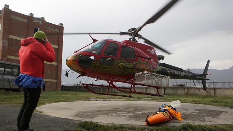 Son dakika... Nepal'de helikopter düştü