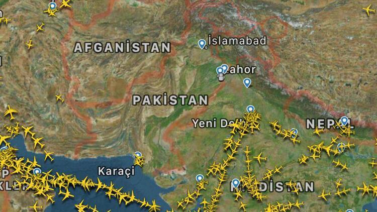 Pakistan hava sahasındaki sessizlik radara da yansıdı