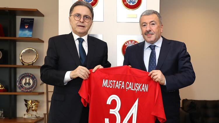 Mustafa Çalışkan'dan TFF Başkanı Hüsnü Güreli'ye ziyaret