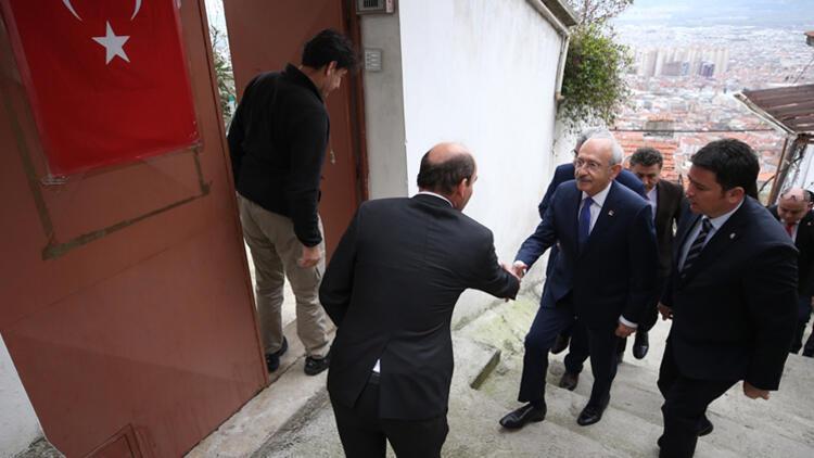 CHP Genel Başkanı Kılıçdaroğlu'ndan şehit ailesine ziyaret