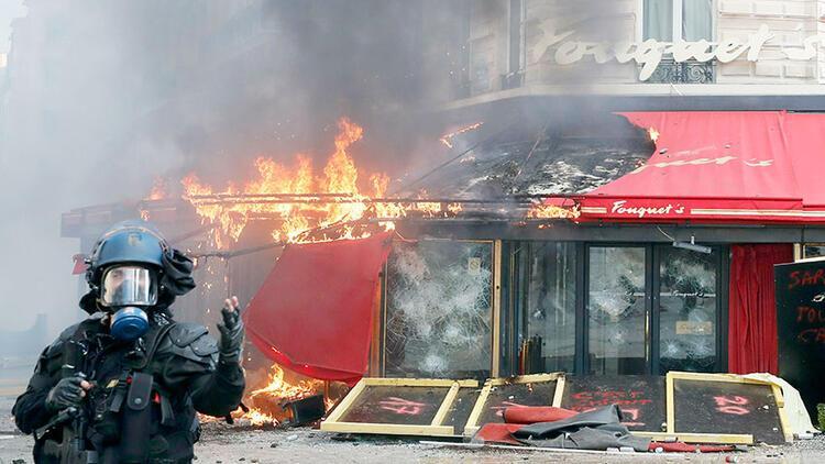 Sarı Yeleklilerin mağaza ve restoranlara zararı 200 milyon Euro