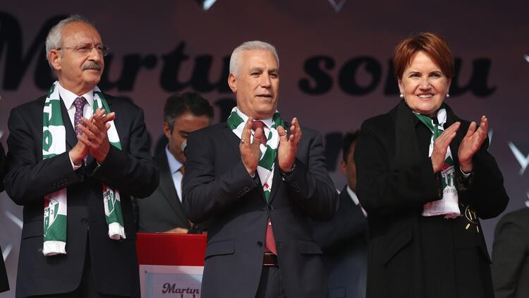 Millet İttifakı Bursa'da miting yaptı