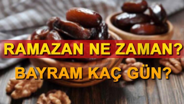 Ramazan ayı hangi gün başlıyor? | Ramazan Bayramı tatili ne zaman?