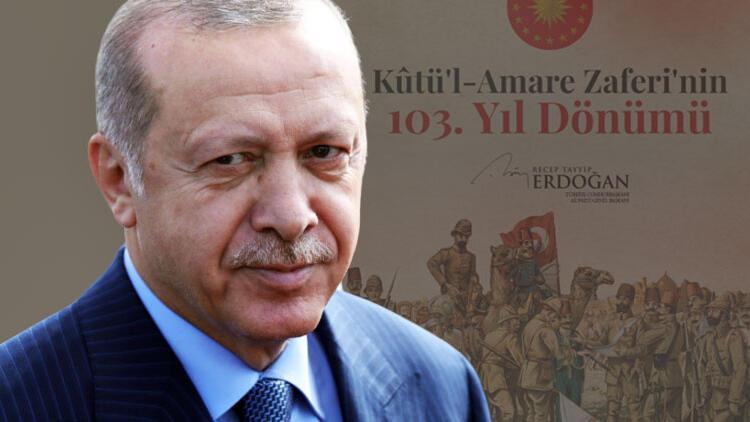 Cumhurbaşkanı Erdoğan'dan Kûtü'l-Amare mesajı