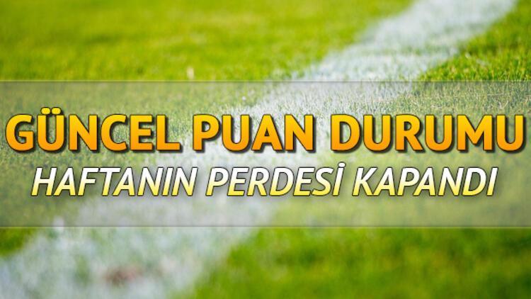 Süper Lig'de 30. hafta tamamlandı! İşte Süper Lig güncel puan durumu